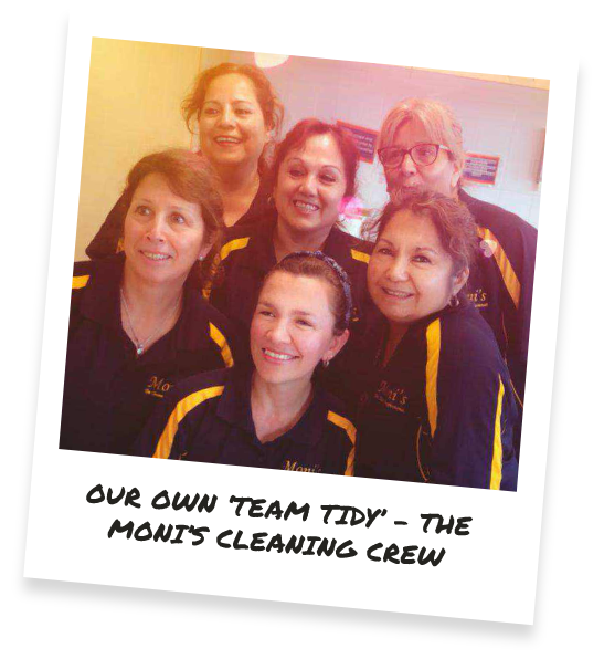 OUR OWN 'TEAM TIDY' - THE MON'S CLEANING CREW
