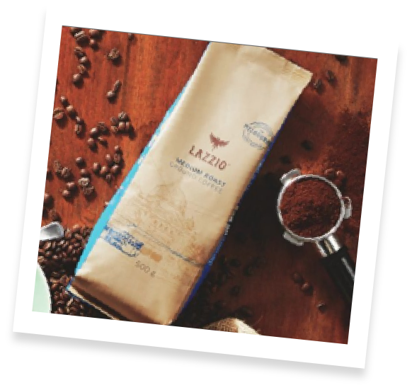 Bag of Lazzio coffee beans