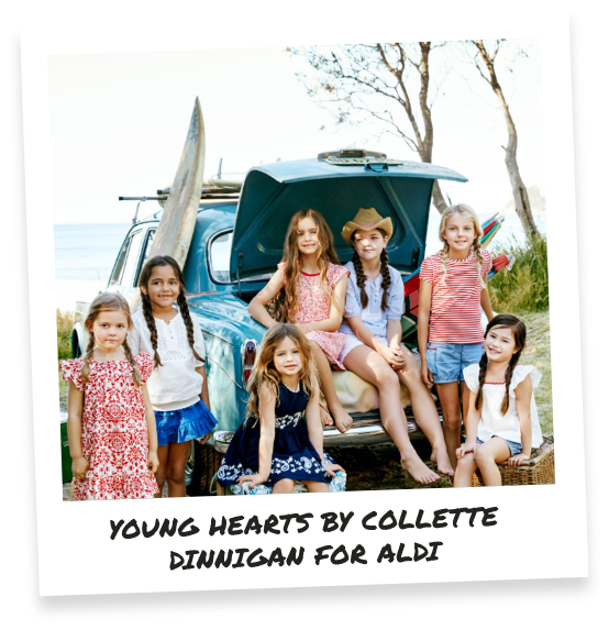 Young hearts by Collette Dinnigan for ALDI