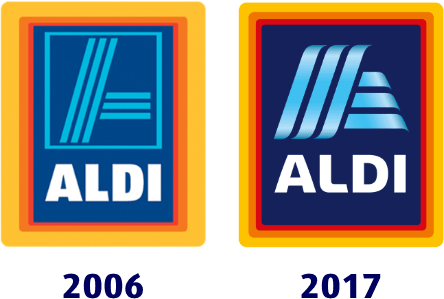 2006 and 2017 ALDI logos